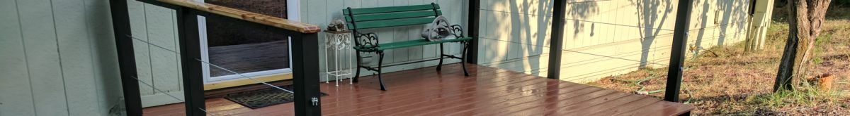Deck banister installation