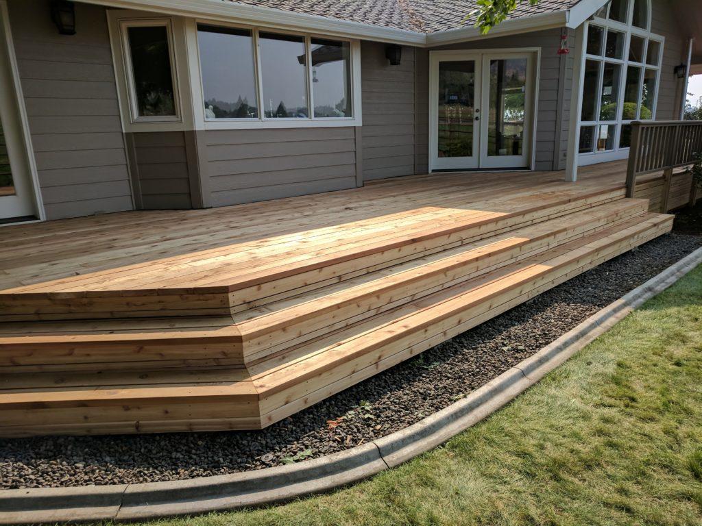 Cedar Deck Rebuild Talent Oregon