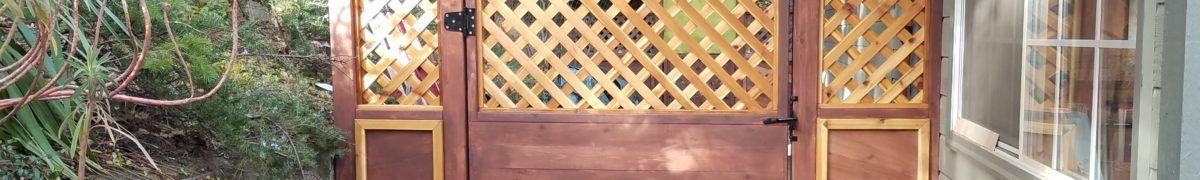 fence gate building ashland oregon